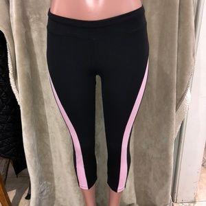BEBE Sport Black with Light Pink Capris Size M